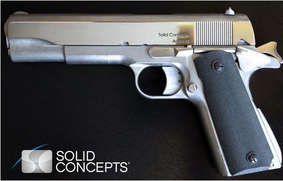 50万美元 美3D打印厂打印出金属手枪