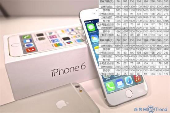 ,Apple,电信通讯,iPhone6合约机套餐价格资费:移动电信联通最全苹果合约计划