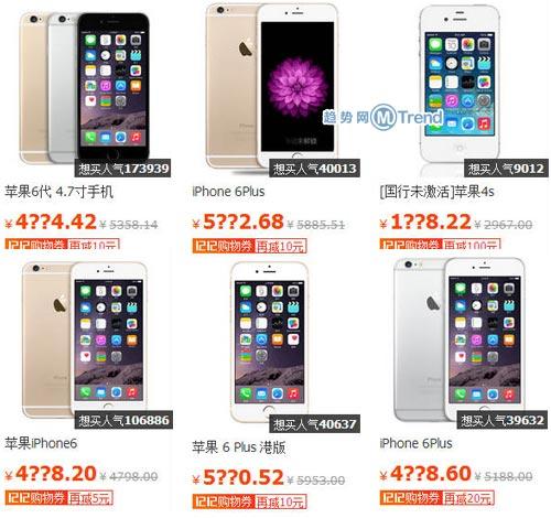 ,京东,Apple,平板电脑,电信通讯,电子商务,上市交易,双12买iPhone6还是Plus:苹果6Plus和苹果6哪个好用 降价多少钱