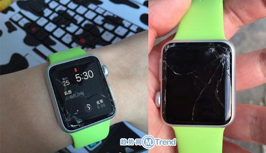 苹果手表容易摔坏吗:AppleWatch屏幕碎了怎么修多少钱