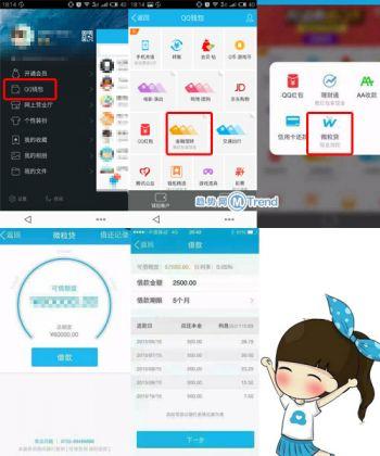 微信微粒贷QQ现金贷微众银行腾讯信用评分:开通提额攻略