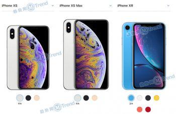 苹果XR iPhoneXS XSMAX区别:配置参数一览 对比买哪个好