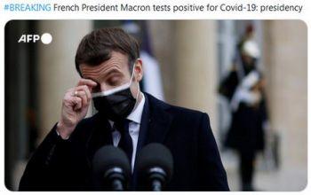 法国总统马克龙新冠检测呈阳性!英国议员夺走女王权杖抗议