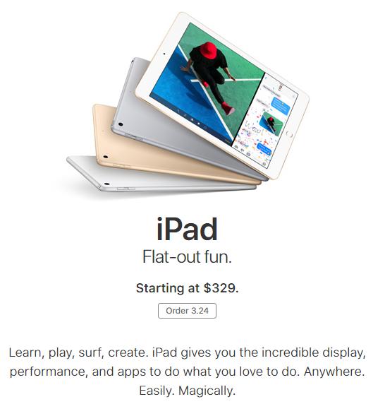 ,苹果,苹果推出329美元廉价iPad即将开放预定