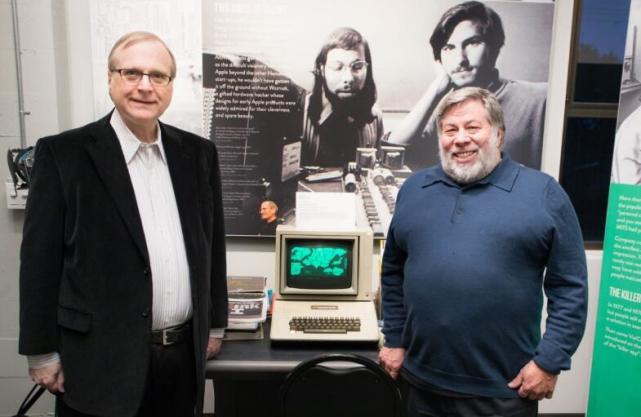 ,创始人,苹果,微软,微软联合创始人艾伦和苹果联合创始人沃兹尼克首次会面