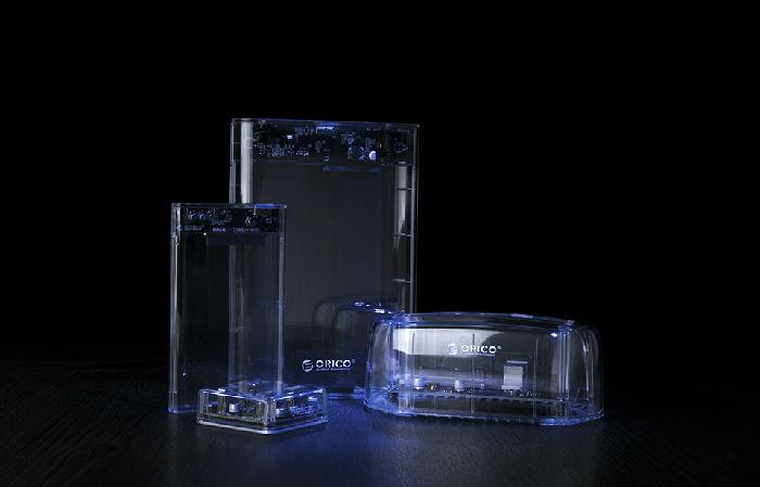 PC外设审美革新!ORICO全透明系列之USB3.0透明桌面集线器
