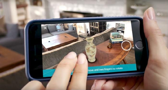 ,增强现实,亚马逊在其iOS应用程序中添加AR购物功能