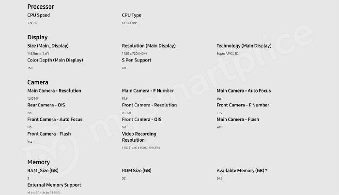 三星2018新款Galaxy J6配置参数泄露