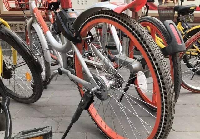 ,共享单车的实芯轮胎