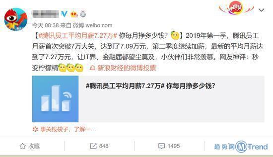 今日热点:腾讯员工平均月薪7万多 清华大学开学典礼