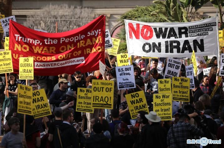 今日热点:美国爆发反战游行 特朗普再警告伊朗