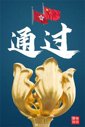 香港维护国家安全法表决通过