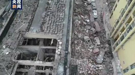 十堰爆 炸致12死 航拍画面