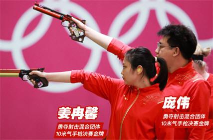 第7金!庞伟姜冉馨射击夺冠