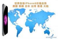 世界各地iPhone6价格走势:美国 韩国 日本 台湾 香港 大陆