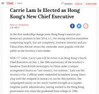 看一下国内外媒体笔下的香港选举