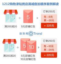 双十二购物津贴官方规定:怎么领取使用 跨店满减抵扣顺序