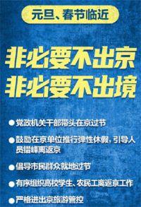中办国办:减少两节期间人员流动!在京机关干部带头在京过节