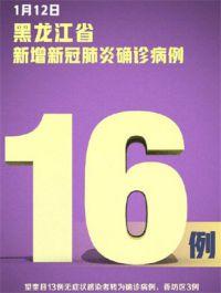 黑龙江新增16例确诊12例无症状 山东威海本地无症状感染者1例